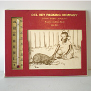 Advertising Thermometer Black Americana Working