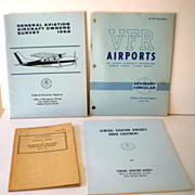 (4) Vintage Aviation Pilot Publications Books