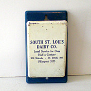1950s Advertising Hanging Paper Clip Holder Dairy