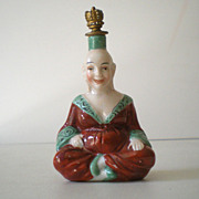 Figural Sitzendorf Crown Top Perfume Bottle Germany
