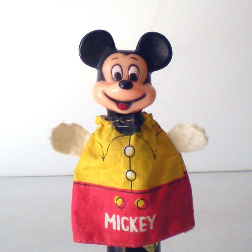 Vintage Disney Mickey Mouse Finger Puppet