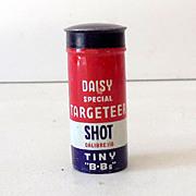 "Full Vintage Daisy BB Gun Tin ""Tiny B.Bs"""