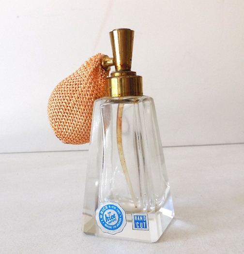 Irice Crystal Perfume Bottle With Atomizer