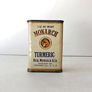 Vintage Monarch Spice Tin Tumeric