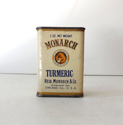 Vintage Monarch Spice Tin Tumeric