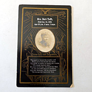 Victorian Funeral Remembrance Card With Photo