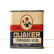 Vintage Quaker Powdered Alum Spice Tin