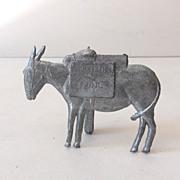 Figural Salesman's Sample Zinc Prospector's Burro
