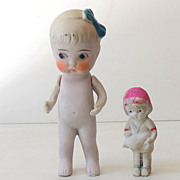 (2) Precious Old Bisque Dolls