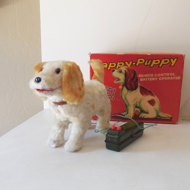 "Battery Operated ""Happy Puppy"" Mint In Box Japan"