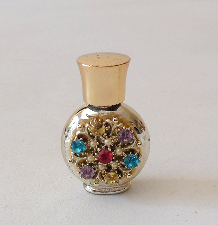 Vintage Miniature Jeweled Perfume Bottle