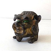 Antique  Brass Figural Pen Holder Incense Burner