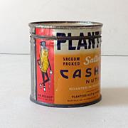 1940s Planter's Cashew Nuts Tin Mr. Peanut