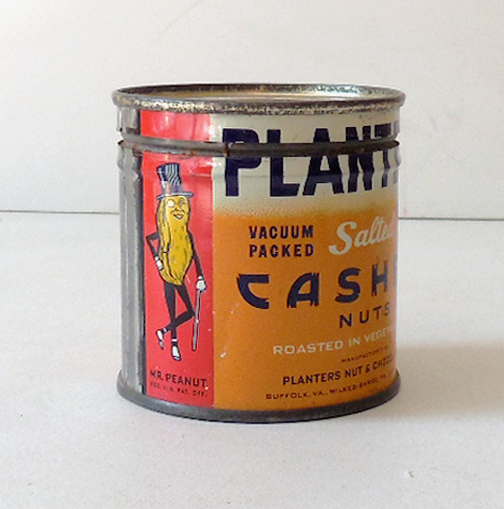 1940s Planter's Cashew Nuts Tin Mr. Peanut