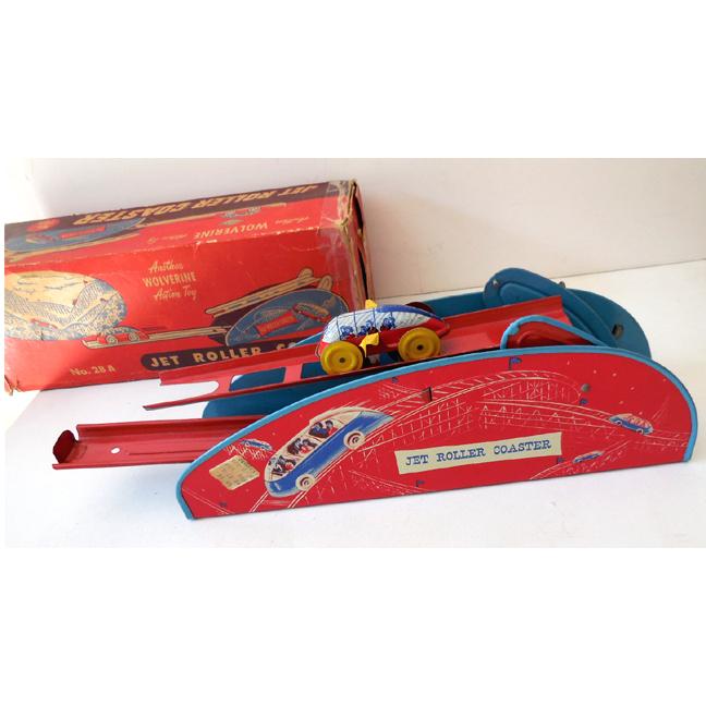 Tin Wolverine Wind-up Jet Roller Coaster w/ Original Box