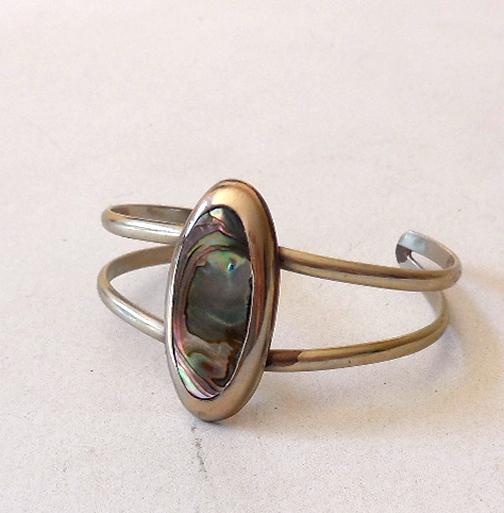 Native American Style Abalone Shell Cuff Bracelet