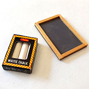 Dollhouse Miniature Chalkboard & Chalk in Box