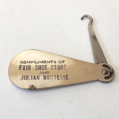Vintage Advertising Metal Shoe Horn Button Hook