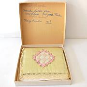 Silk Handkerchief Holder With Hankies in Box