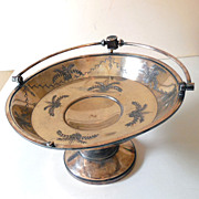 Victorian Era Meriden B Silverplated Compote