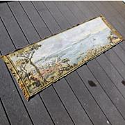 Large Vintage 1930s Woven Tapestry Scene