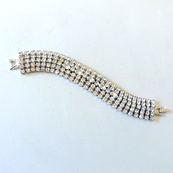 Fabulous 5 Row Rhinestone Bracelet
