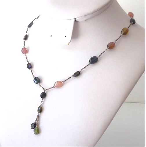 Vintage Natural Stones Necklace