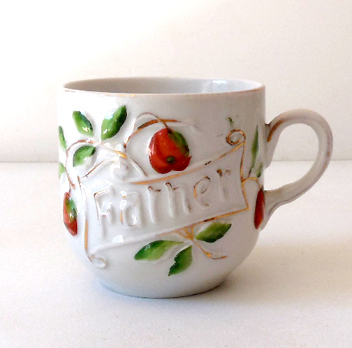 "Vintage Porcelain ""Father"" Coffee Cup Germany"