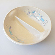1950s Retro Divided Bowl Oasis Pattern Franciscan