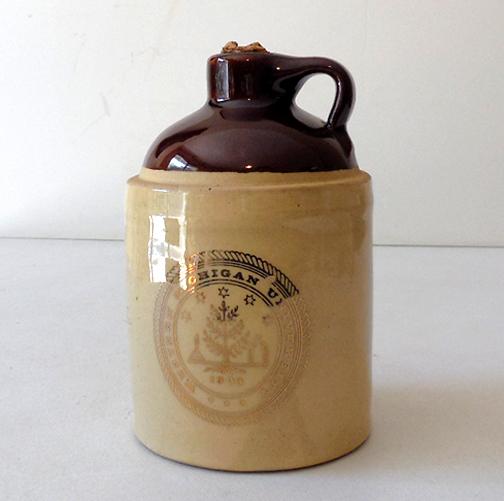 Pottery Crock Jug Western Michigan University