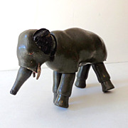 Large Size Schoenhut Jointed Wood Elephant Germany