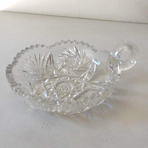 Lovely Cut Lead Crystal Nappy Bowl