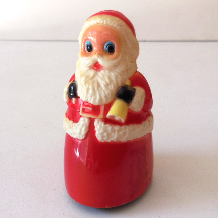 1960s Plastic Friction Santa Claus Toy