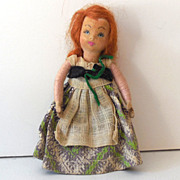 Small Hand Made Doll With Red Hair
