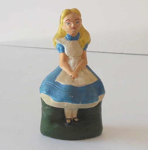 Old Chalk Figure Alice in Wonderland Disney