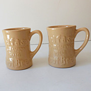 (2) Tepco Belfast Root Beer Advertising Mugs NOS