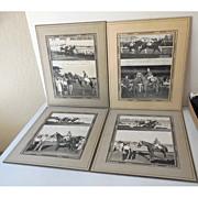 "(4) Original 1940s Race Horse Photographs ""Time Out"""