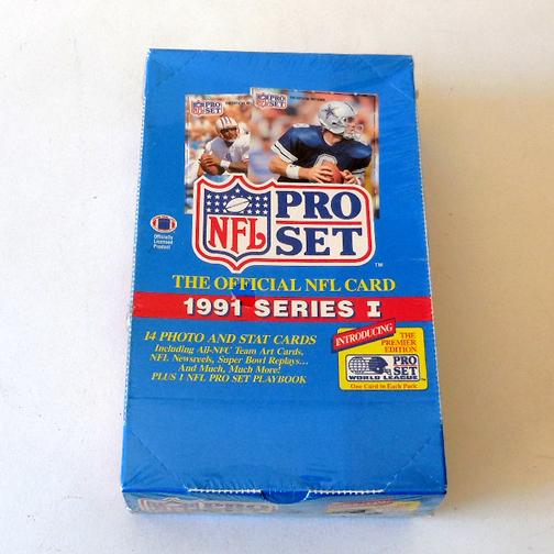 1991 Pro Set Box NFL Trading Cards Series I
