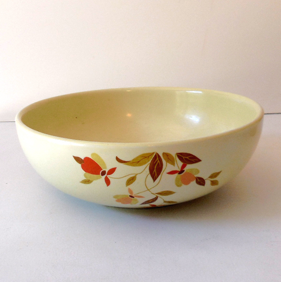 Hall Jewel T Autumn Leaf Serving Bowl 9 Inch From