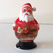 Vintage Santa Claus Christmas Snow Globe Dome