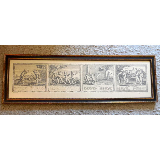 17th Century French Engraving by Claudine Bouzounet Stella