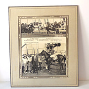"8X10 Photo 1949 Race Horse Winner's Circle ""Lucky Five"""