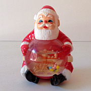 Vintage Jolly Santa Clause Snow Globe Snowdome