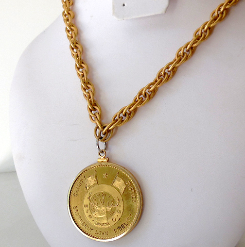 Large B.P.O.E. New Orleans Coin Pendant ONLY