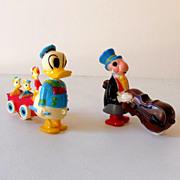 (2) Vintage Disney Animation Character Ramp Walker Toys
