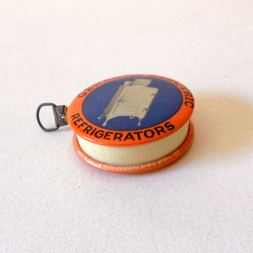 1920s Advertising GE General Electric Refrigerator Tape Measure