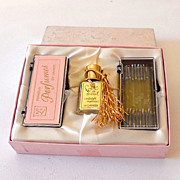 1950s Presentation Box Lanier Bottle & Perfume Nips