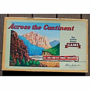 LARGE 1952 Parker Brothers Board Game In Box