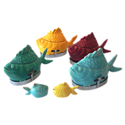 Complete Set (4) Chicken of The Sea Tuna Bakers & Bonus