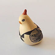 Signed Native American Pottery Bird Partridge
